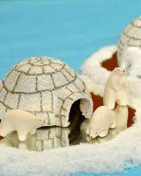 clay polar bears and igloo u0026 video martha stewart