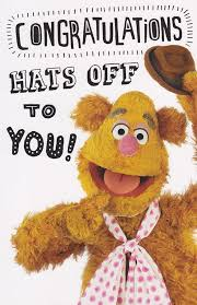 the muppets congratulations card fozzie cardspark