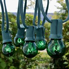 25 green s11 globe string lights green c9 strand