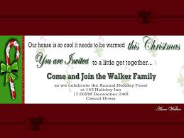 Christmas Invitation Cards Template Christmas Holiday Party And Dinner Invitation Card Design Ideas To
