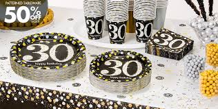 30th birthday decorations sparkling celebration 30th birthday party supplies party city