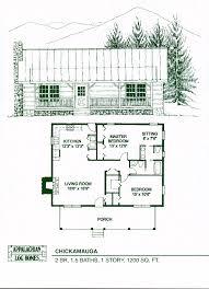one bedroom log cabin plans chickamauga 2 bed 1 5 bath 1 1200 sq ft appalachian