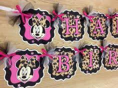 Cheetah Party Decorations Minnie Mouse And Cheetah Print Birthday Birthday Decorations