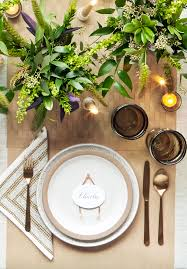 Gold Table Setting by 40 Thanksgiving Table Settings Thanksgiving Tablescapes