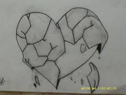 heart sketches in pencil emo heart drawings emo love drawings in