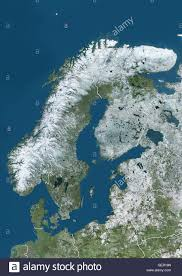 map northern europe scandinavia satellite view of northern europe showing scandinavia and the