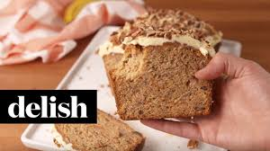 carrot cake banana bread delish youtube