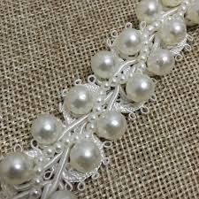 pearl lace aliexpress buy 2cm ivory cord beaded trim wedding