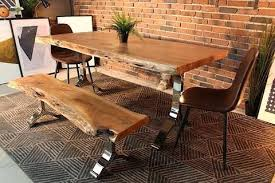 Dining Tables Nyc Live Edge Dining Table Acacia Live Edge Dining Table With Chrome Y