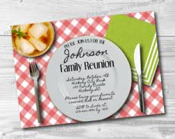 printable family reunion invitation template editable family
