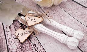 wedding gift knife set rustic chic wedding cake server and knife set white with