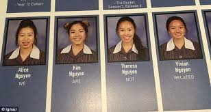 yearbook uk we are not related four asian students with the same last name