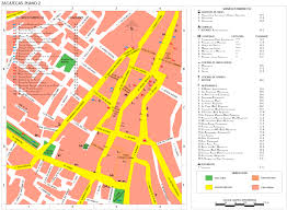 Zacatecas Mexico Map by Map Of The City Of Zacatecas Full Size
