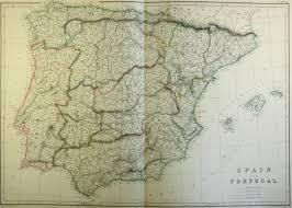 Map Of Spain And Portugal Map Of Spain And Portugal 1860