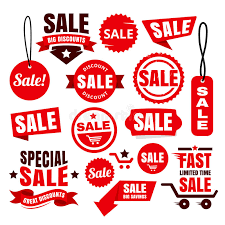 ribbons for sale discount sale tags badges and ribbons stock vector