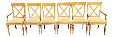 Maple Chairs Ethan Allen Swedish Home Whitewashed Maple Dining Chairs Set Of