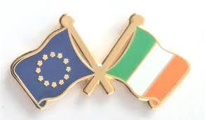 ireland and european union eu friendship flag pin badge