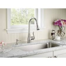 moen anabelle lead free single handle pull out kitchen faucet with