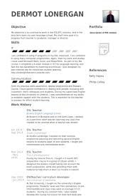 Resume Templates Samples Examples by Esl Teacher Resume Samples Visualcv Resume Samples Database