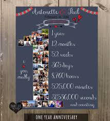 what to get husband for 1 year anniversary 1st anniversary anniversary photo collage anniversary gift for