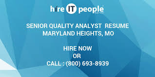 sle resume for business analysts duties of executor of trust senior quality analyst resume maryland heights mo hire it people