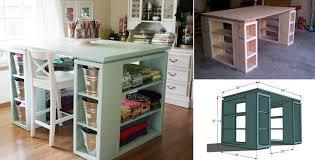 ideas diy modern craft table