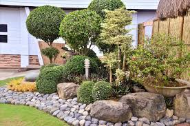 Rock Backyard Landscaping Ideas by Simple Backyard House Design With Low Low Maintenance Rock