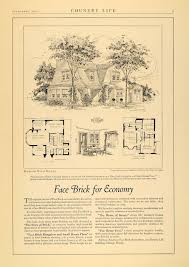 1924 ad american face brick dutch colonial floor plan original