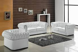 Ultra Modern 3pc Living Room Set Leather Paris White | ultra modern 3pc living room set leather paris white