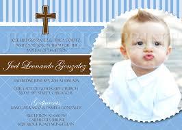 Invitation Card Christening Boys Blue U0026 Brown Baptism Dedication Christening Photo Invitation