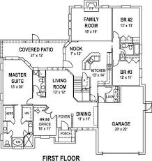 3 bedroom one story tuscan house floor plans homescorner com