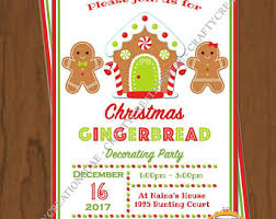 gingerbread invite etsy