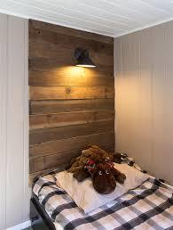 diy rustic wood headboard u0026 light for under 45 jenna sue