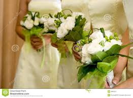 Bridesmaid Bouquets Wedding Bouquets Held By Bridesmaids Royalty Free Stock Images