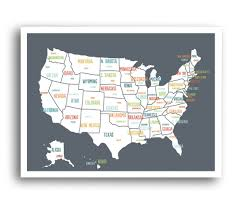 Atlanta Map Usa by Usa Map In Dark Grey U2013 Kindred Sol Collective