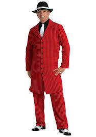 red plus size zoot suit 1920s gangster costumes