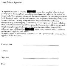 photography model release form photography forms templates for