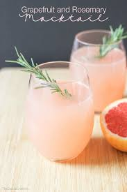 Drinks For Baby Shower - grapefruit and rosemary mocktail