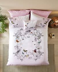 Pink Bed Linen Enchanted Dream Cotton Double Duvet Cover Light Pink Bed Linen