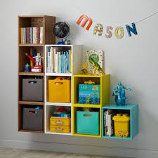 narrow cube bookcase cube cubby wall shelf the land of nod