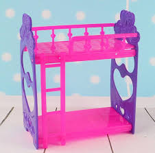 Plastic Bunk Beds Kid S Play House Toys Doll Accessories Diy Assembly Doll S Plastic
