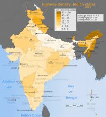 India Map Of States by File 2012 India Highway Density Map For Its States And Union