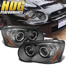 subaru headlight styles fits 04 05 subaru impreza wrx rs sti halo led projector jdm