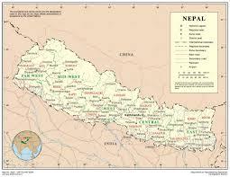 Nepal On Map Nepal Jpg
