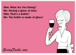 Blank Ecards Meme - the bottle is made of glass wine ecard givingfucks com