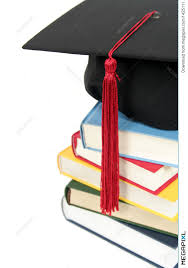 graduation books graduation cap on stack of books stock photo 1425111 megapixl