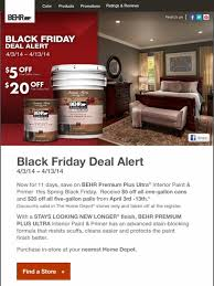 the home depot spring black friday 2014 behr black friday deal alert get an immediate discount upon