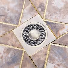 basin sink kitchen floor drain bathroom rose antique brass floor