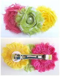 Shabby Flowers Shabby Flower French Clip Hair Bow Tutorial Alwaysunderpay Blog