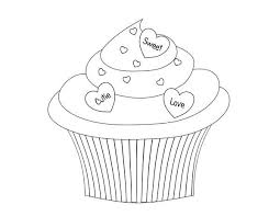 cupcake coloring pages to print say it with cupcake coloring page netart